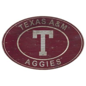 Texas A&M Aggies Heritage Oval Wall Sign