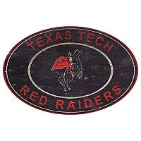 Texas Tech Red Raiders Heritage Oval Wall Sign