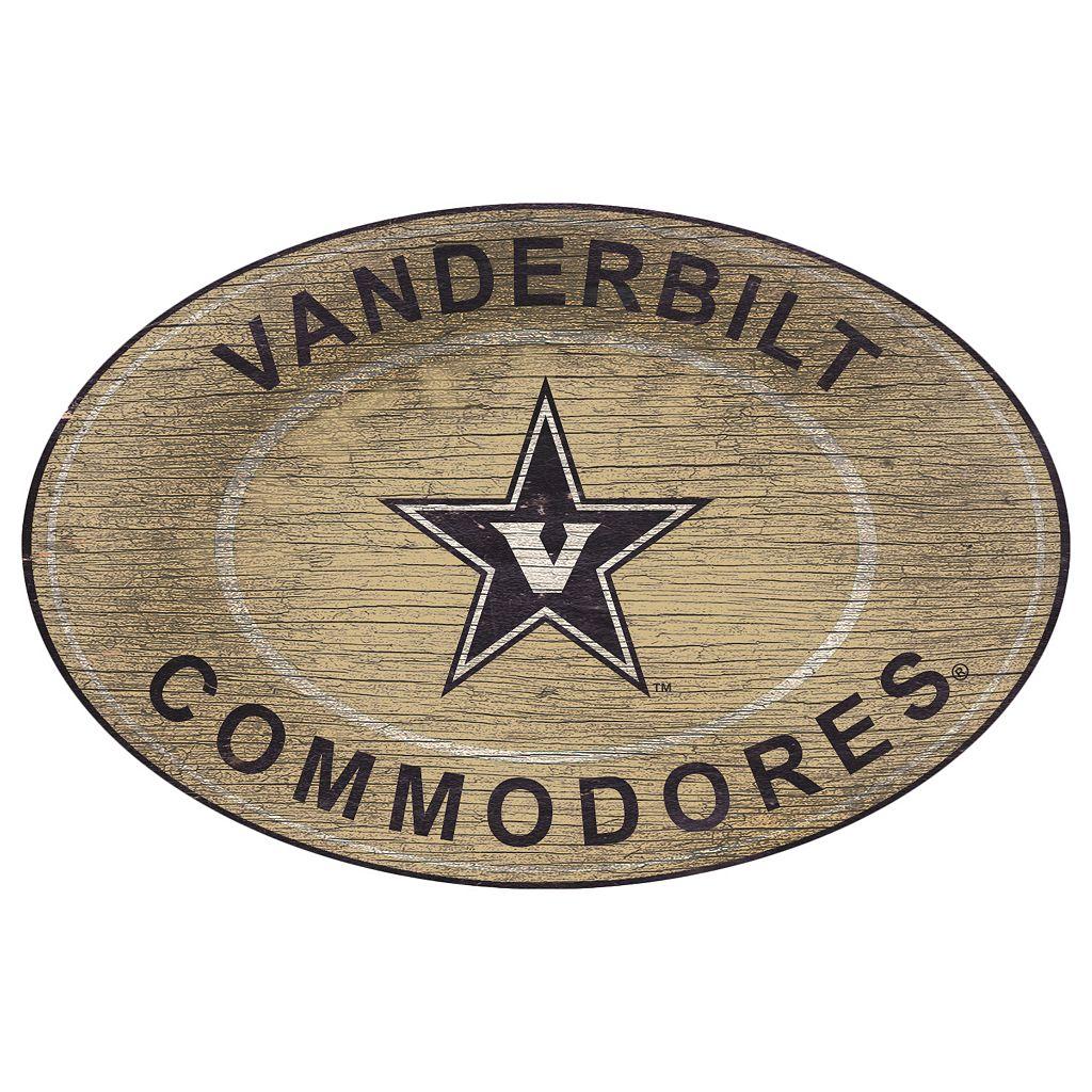 Vanderbilt Commodores Heritage Oval Wall Sign