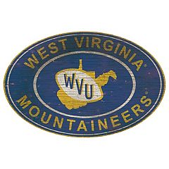 West Virginia Mountaineers Heritage Oval Wall Sign