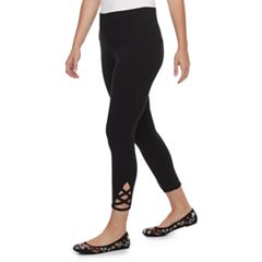 Petite SONOMA Goods for Life™ Crisscross Capri Leggings