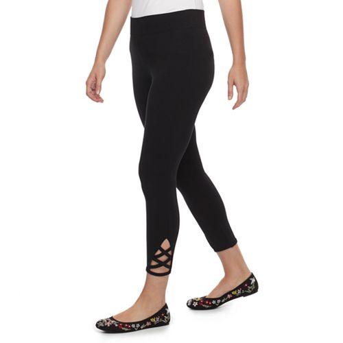 Petite SONOMA Goods for Life™ Crisscross Capri Leggings
