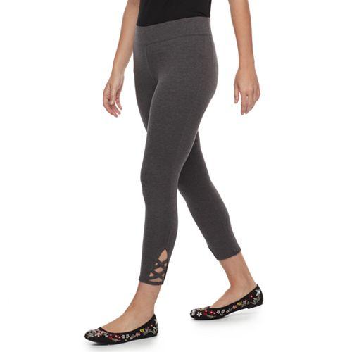 Petite SONOMA Goods for Life® Crisscross Capri Leggings