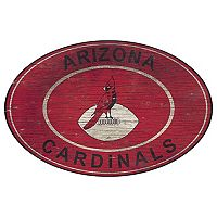 Arizona Cardinals Heritage Oval Wall Sign