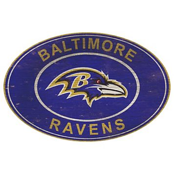 Baltimore Ravens Heritage Oval Wall Sign
