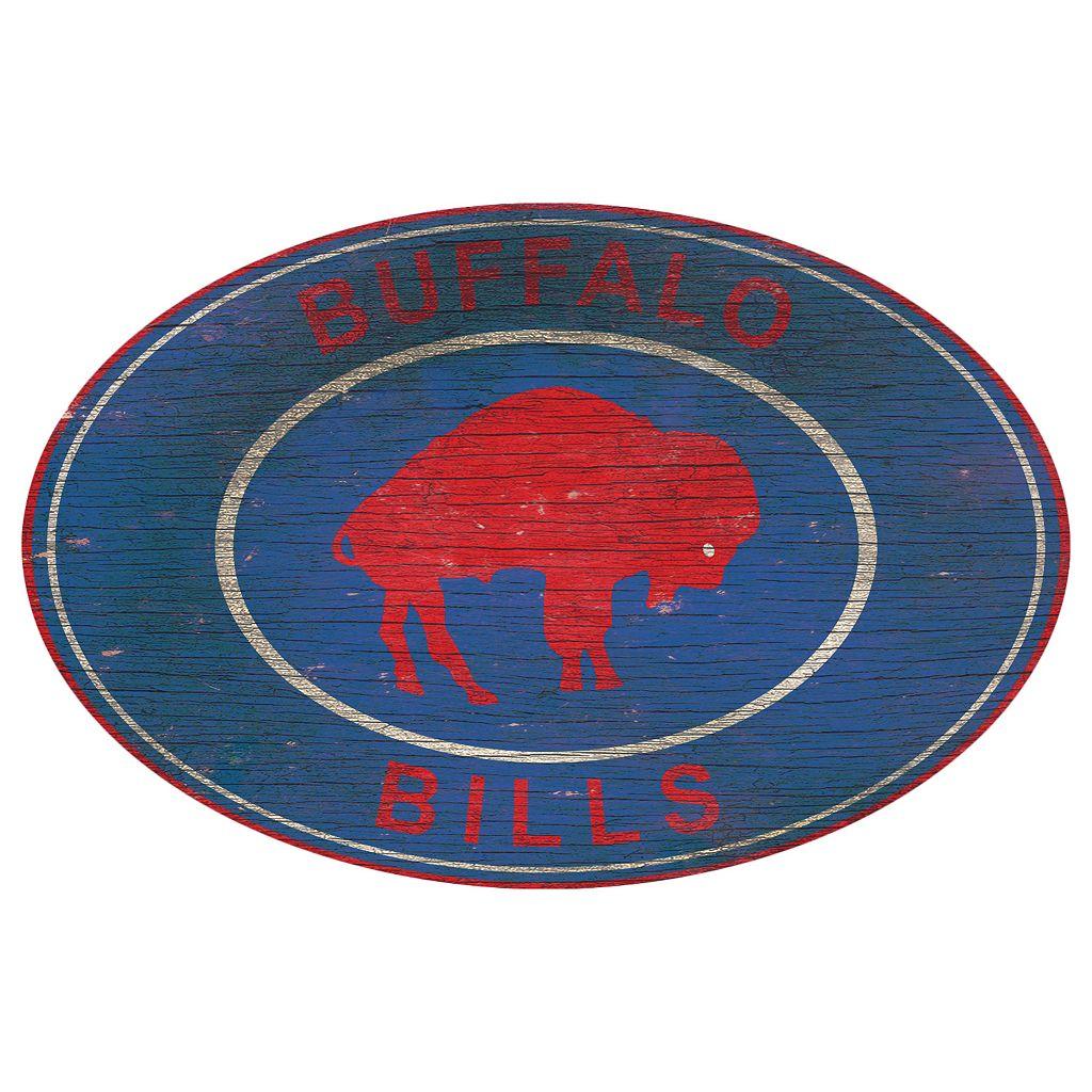 Buffalo Bills Heritage Oval Wall Sign