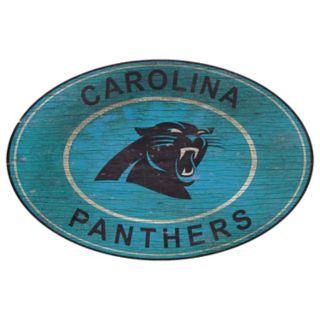 Carolina Panthers Heritage Oval Wall Sign