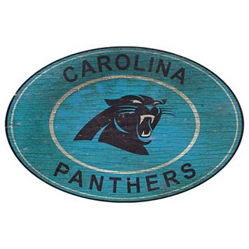 Carolina Panthers Heritage Oval Wall Sign