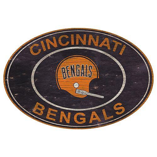 Cincinnati Bengals Heritage Oval Wall Sign