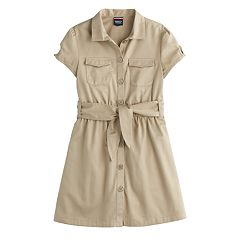 Girls 4-20 French Toast Belted Safari Dress