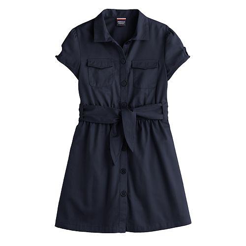 Girls 4-20 French Toast Belted Safari Dress