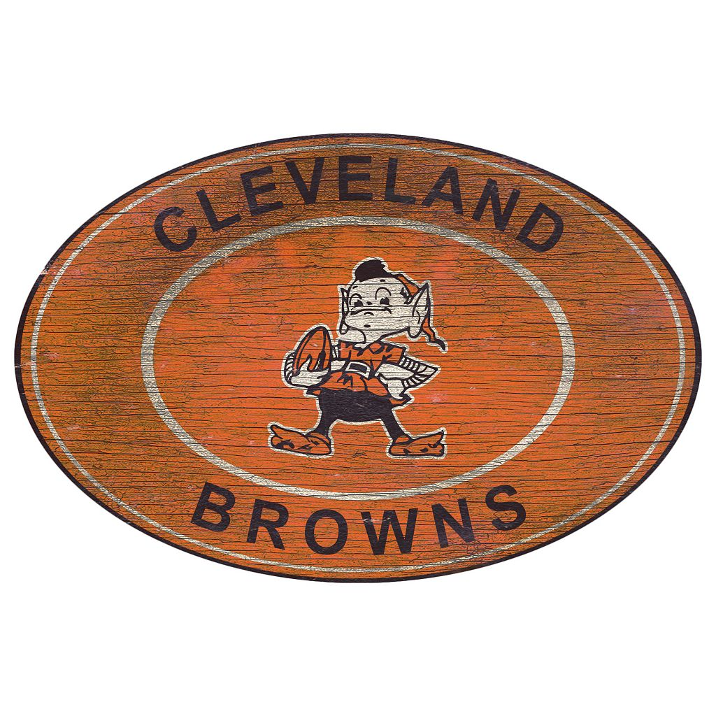 Cleveland Browns Heritage Oval Wall Sign