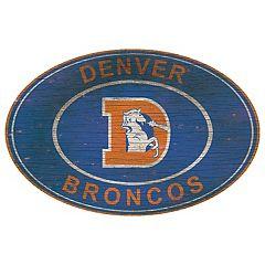 Denver Broncos Heritage Oval Wall Sign