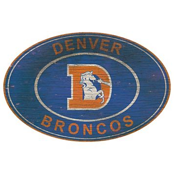 Denver Broncos Heritage Oval Wall Sign