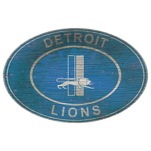 Detroit Lions Heritage Oval Wall Sign