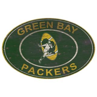 Green Bay Packers Heritage Oval Wall Sign