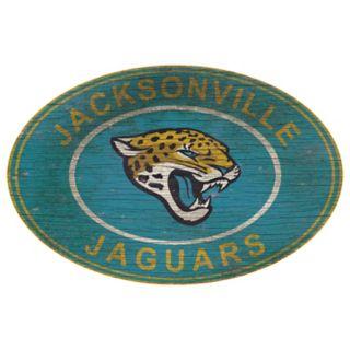 Jacksonville Jaguars Heritage Oval Wall Sign