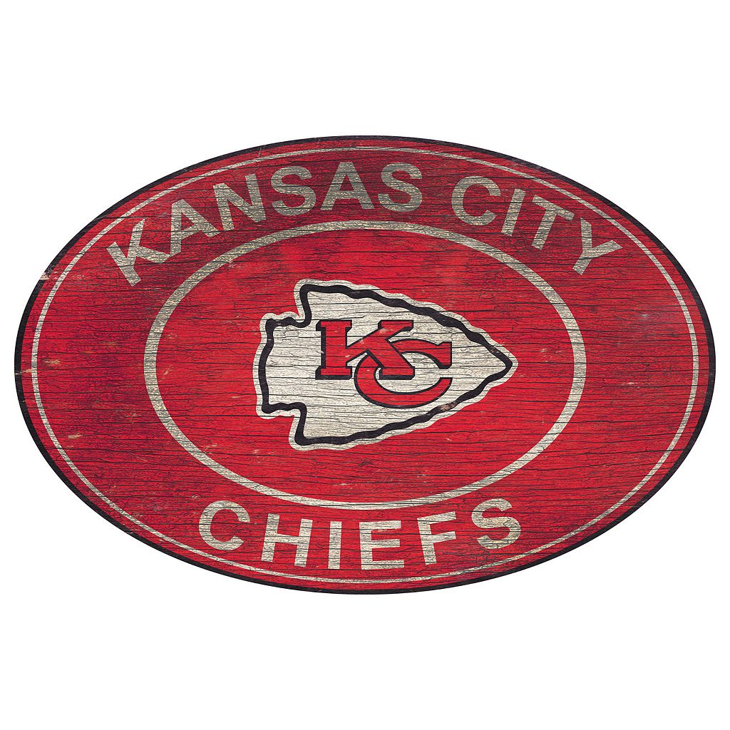Kansas City Chiefs Heritage Oval Wall Sign