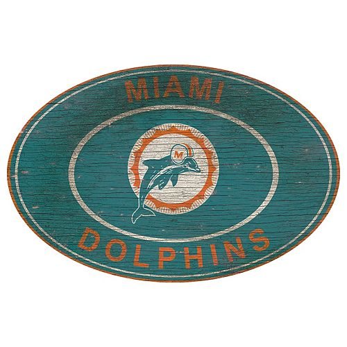 Miami Dolphins Heritage Oval Wall Sign