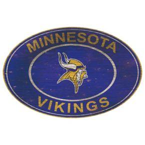 Minnesota Vikings Heritage Oval Wall Sign
