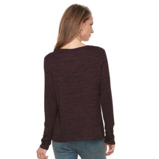 Petite Apt. 9® Embroidered Mixed-Media Top