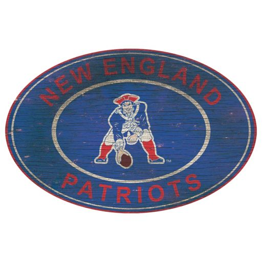 New England Patriots Heritage Oval Wall Sign