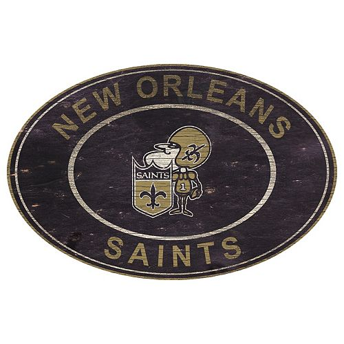 New Orleans Saints Heritage Oval Wall Sign