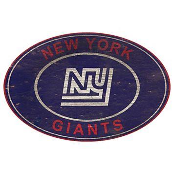 New York Giants Heritage Oval Wall Sign