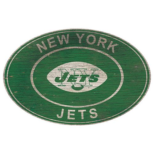 New York Jets Heritage Oval Wall Sign