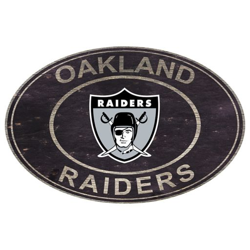 Oakland Raiders Heritage Oval Wall Sign