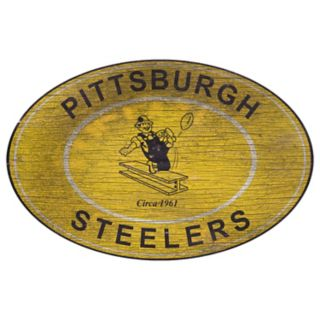 Pittsburgh Steelers Heritage Oval Wall Sign