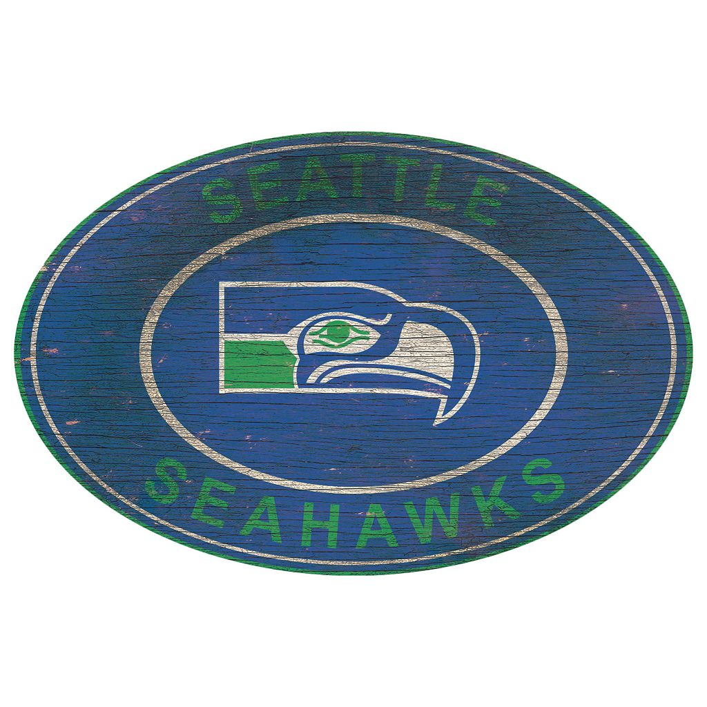 Seattle Seahawks Heritage Oval Wall Sign