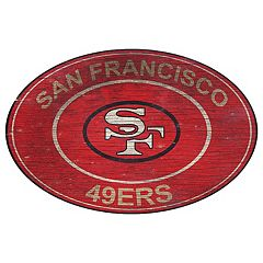 San Francisco 49ers Heritage Oval Wall Sign