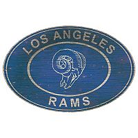 Los Angeles Rams Heritage Oval Wall Sign