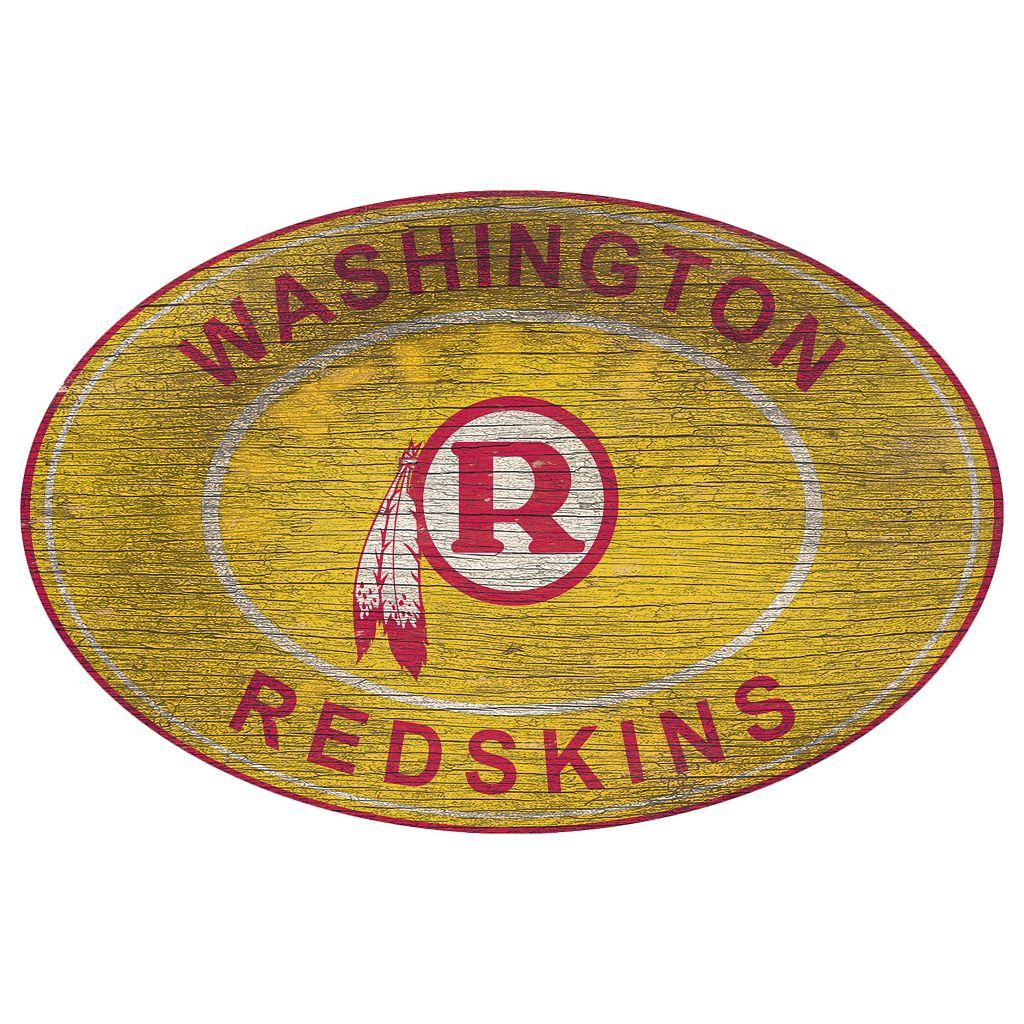 Washington Redskins Heritage Oval Wall Sign