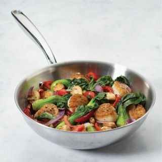 Breville Thermal Pro  10-in. Clad Stainless Steel Stir Fry Pan
