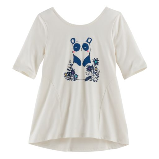 Girls 4-10 Jumping Beans® Pieced High-Low Graphic Tunic