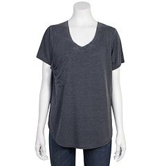 Juniors' Plus Size Grayson Threads Relaxed Burnout Tee