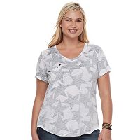 Juniors' Plus Size Grayson Threads Star Drapey Pocket Tee