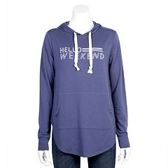 Juniors' Plus Size Grayson Threads 'Hello Weekend' Graphic Hoodie