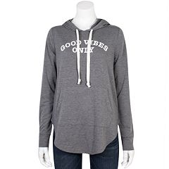 Juniors' Plus Size Grayson Threads Good Vibes Only Hoodie