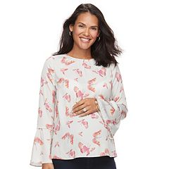 Maternity a:glow Print Bell-Sleeve Top