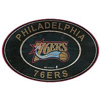 Philadelphia 76ers Heritage Oval Wall Sign