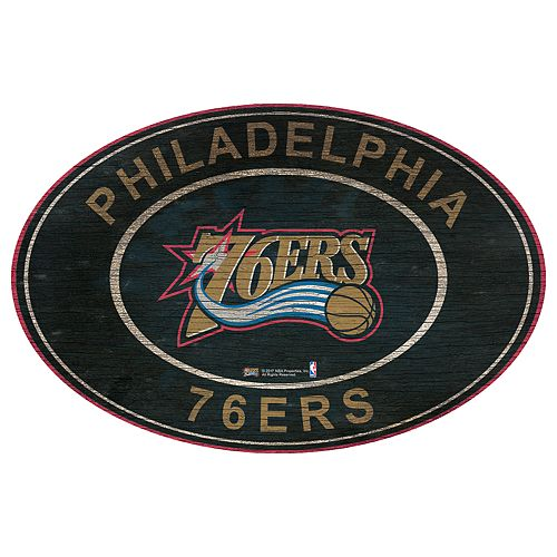 Philadelphia 76ers Heritage Oval Wall Sign