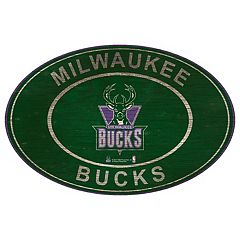 Milwaukee Bucks Heritage Oval Wall Sign