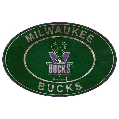 Milwaukee Bucks Heritage Oval Wall Sign