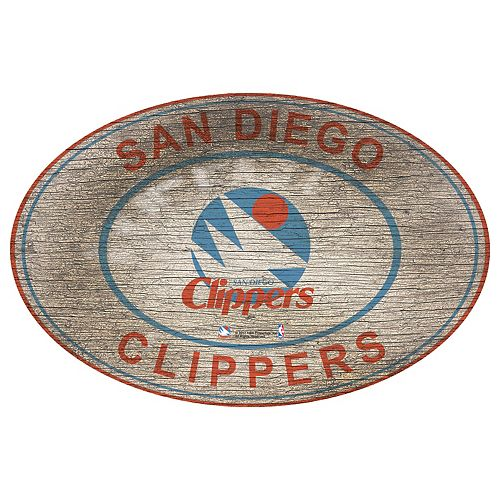 Los Angeles Clippers Heritage Oval Wall Sign