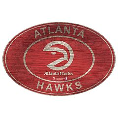Atlanta Hawks Heritage Oval Wall Sign