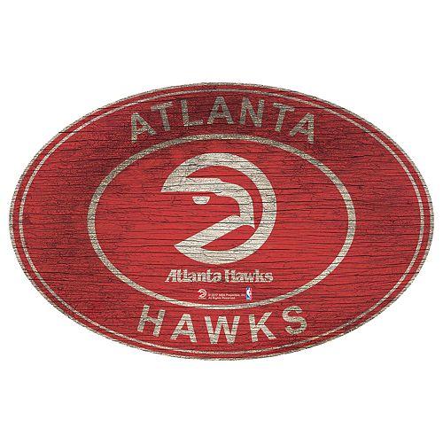 Atlanta Hawks Heritage Oval Wall Sign