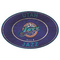 Utah Jazz Heritage Oval Wall Sign